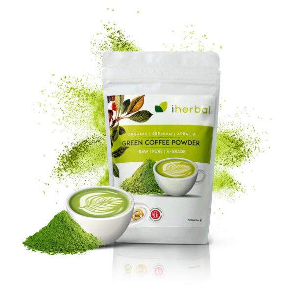 Green coffee powder